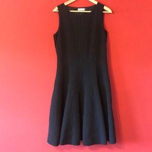 CALVIN KLEIN BLACK A-LINE DRESS